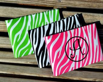 SALE Personalized Photo Album - Zebra - Animal Print