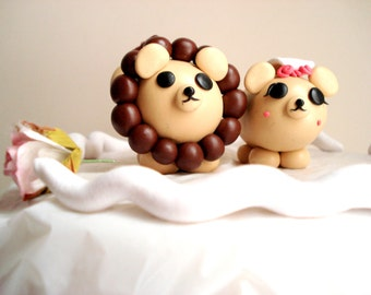 Lion Wedding Cake Toppers Mr and Mrs Lion Cake Topper Keepsake
