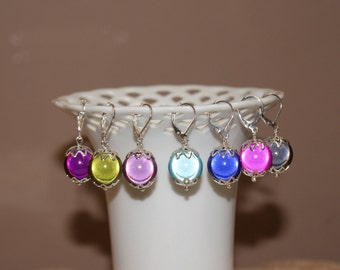 "Your Choice of Color--Large Round Miracle Beads with Silver Plated Accents--""Glowing Baubles"""