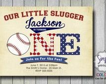 1st birthday invitation, Baseball Invite, Boys 1st Birthday, Baseball theme party