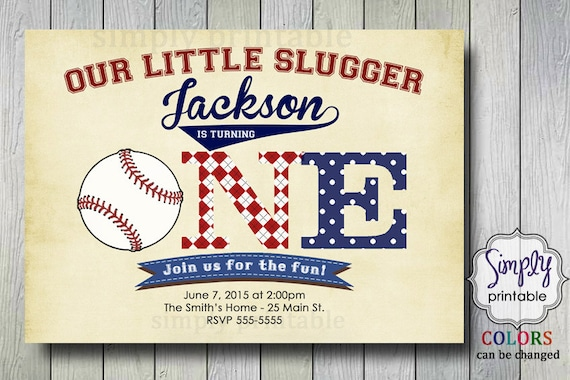 1st birthday invitation, Baseball Invite, Boys 1st Birthday, Baseball theme party
