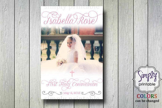 Communion Poster Welcome Sign with Photo (Digital Printable)