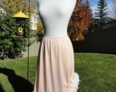 Peach Lace Explosion Underskirt Slip Upcycled Altered Couture Mori