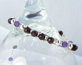 Gorgeous Garnet and Amethyst Bracelet