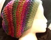 Wild Halo Silk Wool Cotton Crochet Slouch Beanie