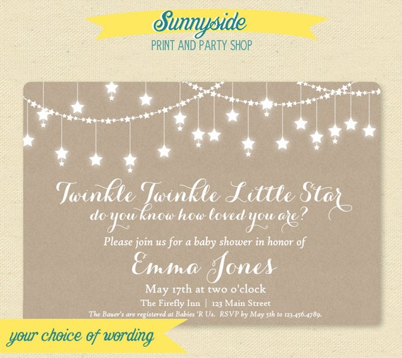 Printable twinkle twinkle baby shower invitation gender neutral il570xn filmwisefo
