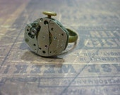 Steampunk Watch Movement Ring - Great for a Christmas gift!