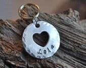 Pet Tag / Pet ID Tag / Dog tag / Personalized tag / Aluminum tag / Heart