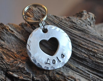 Pet Tag / Pet ID Tag / Dog tag / Personalized tag / Aluminum tag / Heart