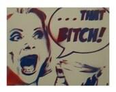 Lucille Bluth Art Arrested Development Painting 11x14 TV Based Original Artwork Pop Art Graffiti and Dork Inspired on Canvas Dorm Room Decor