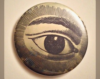 "Evil Eye Protection  - Large 2.25"" Button"