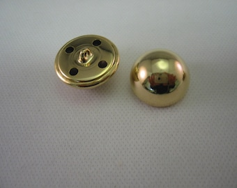 Gold Buttons Half Ball Lot of 6  ( 6 sizes available)