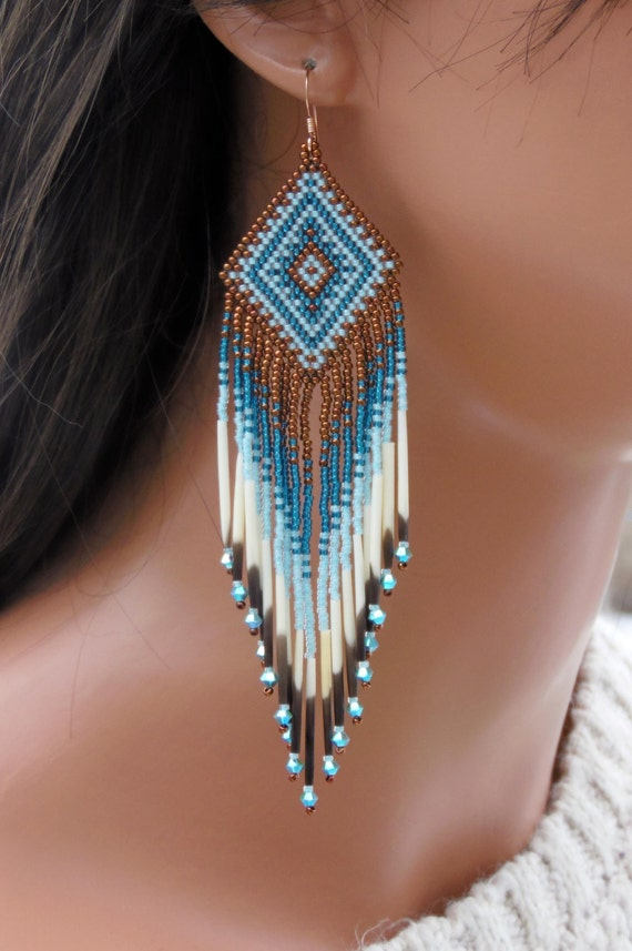 Make Quilling Beads Seed Bead Quill Earrings