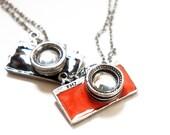 SALE Nerdy Style Red / Black Camera Pendant Necklace