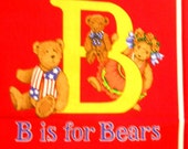 B is for Bears Book - Sewing Fabric Panel