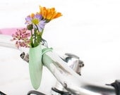 Mint Twisted Handlebar Vase: Planter For Your Bike