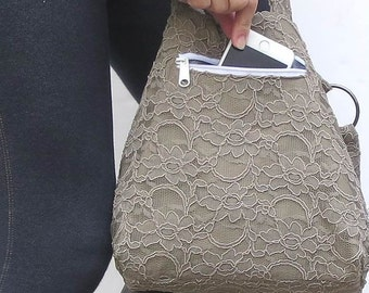 addon an iPhone Zipper Pocket Pouch ADD to a CUSTOM Hobo Bag or BackPack or cross body purse made to order.