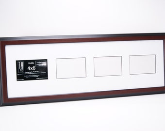 3 4 5 6 7 Multi Opening Vertical Mahogany Picture Frame with Mat to hold 4x6 photographs for your Personalized Name Wedding or Collage