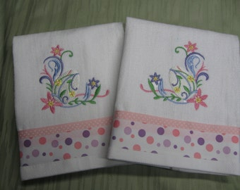 "Handmade embroidered ""Easter Towels"""