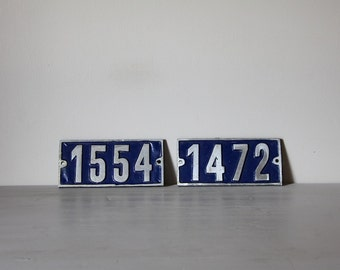 ONE LARGE Vintage French Traditional House Number Loft Living, Select your Number 1472, 1554