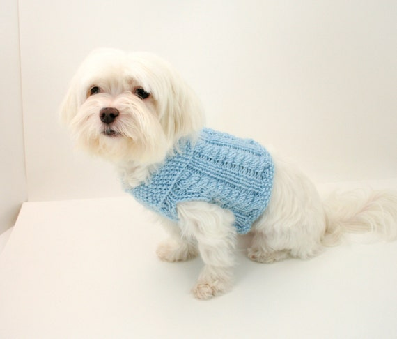 Simple Dog Sweater Knitting Pattern : PDF DIGITAL PATTERN:Knit Dog Clothes PatternKnit Dog Sweater