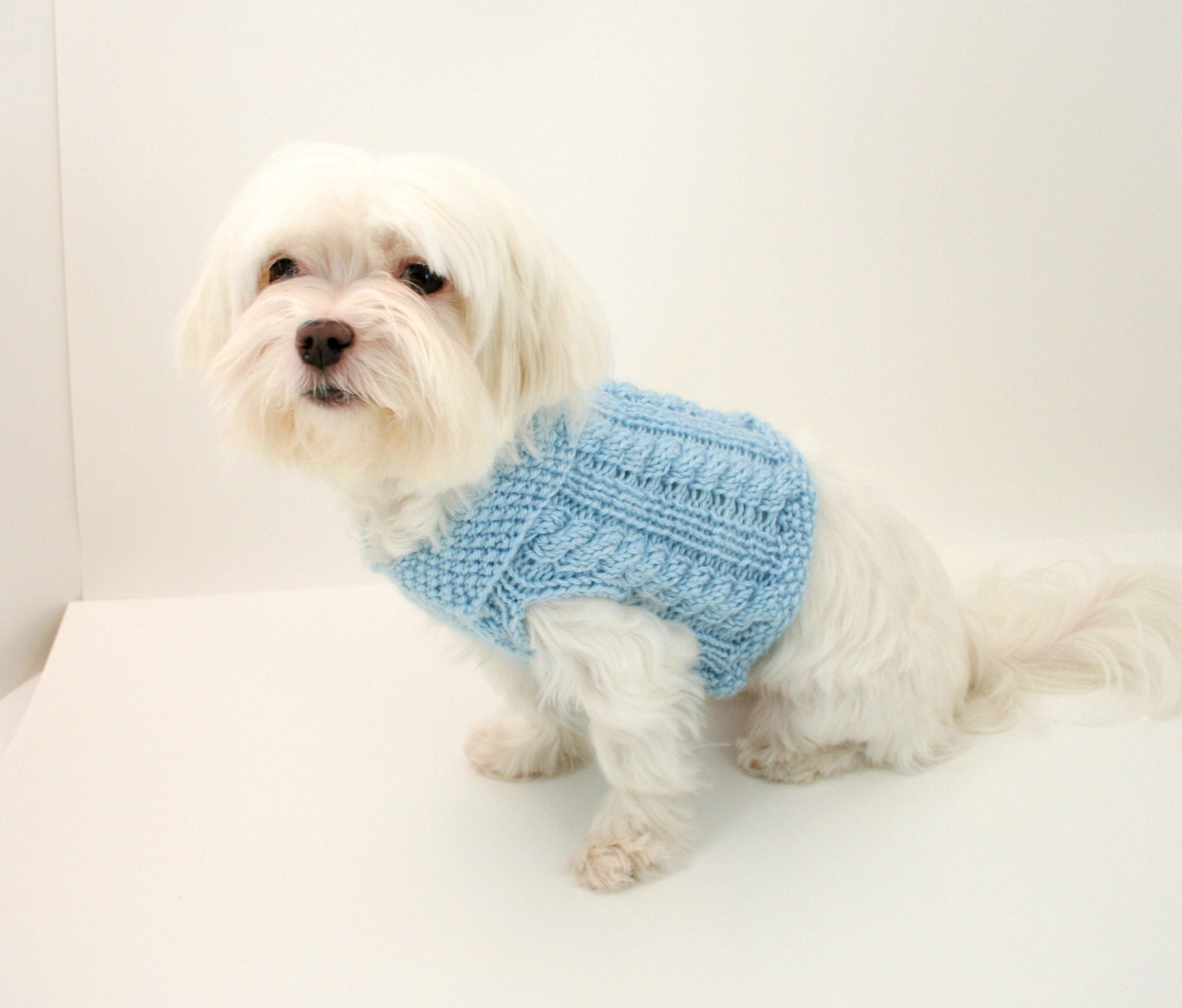 Knitting Pattern For Dog Onesie : DIGITAL PATTERN:Knit Dog Clothes PatternKnit Dog Sweater