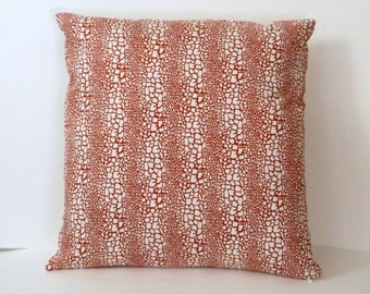 Animal Print Throw Pillow Cover, Snakeskin pattern Red and White , 20 x 20 inch with zipper closure, Bedroom, Sofa, Chair