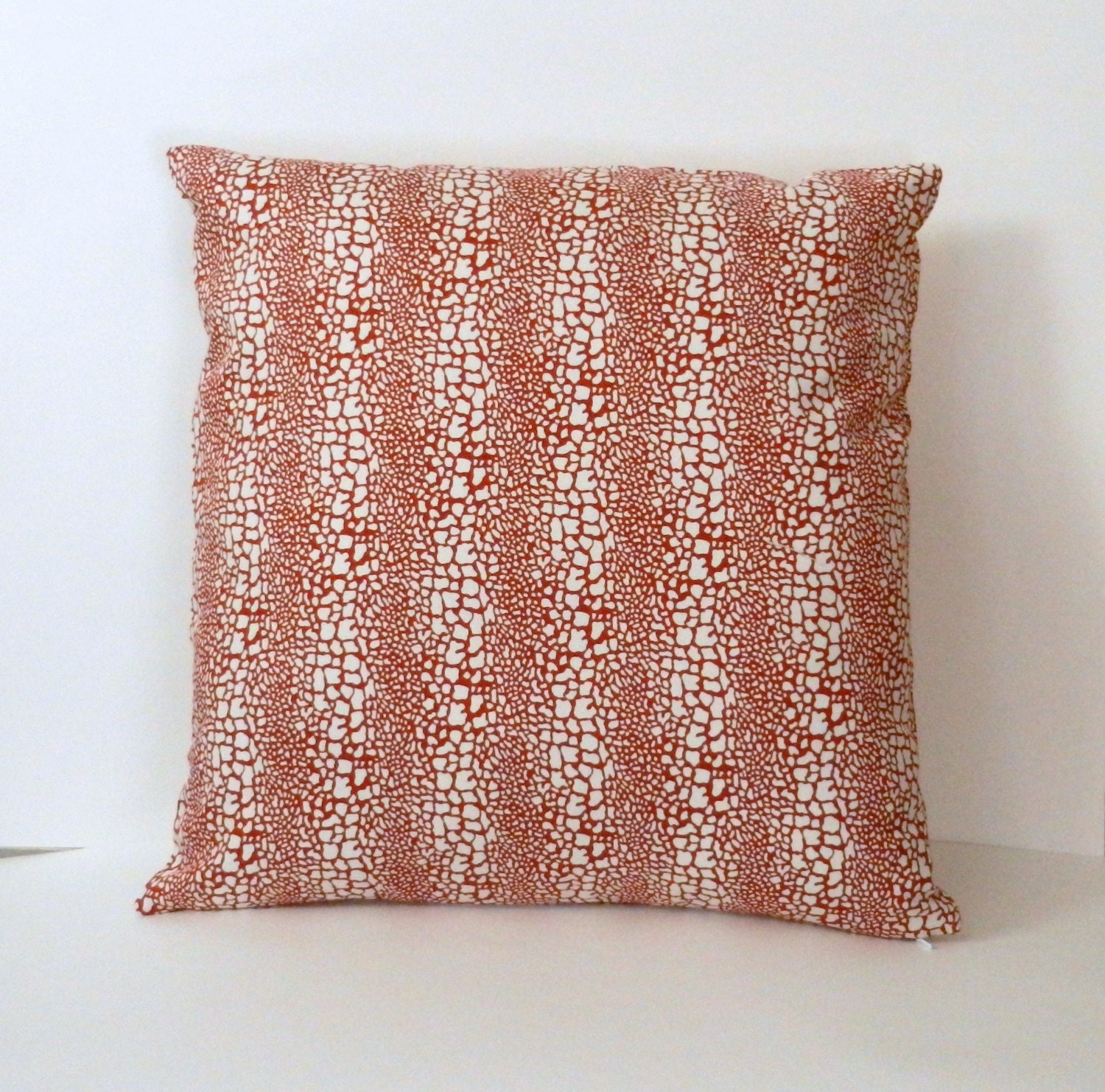 Animal Print Throw Pillow Cover Snakeskin pattern Red and
