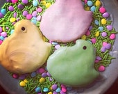 Peeps Dog Treats - Peeps Chicks - 2 pack - Peanut Butter Carrot Cake Easter Dog Treats