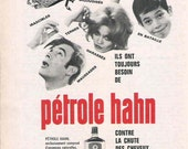 Bathroom Decor 1969 French Shampoo Advertisement Pétrole Hahn Advertisement Funny Ad Kitsch Ad Retro Mod French Decor