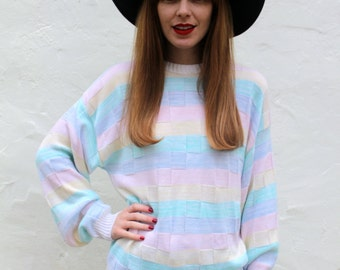 Pastel Large Stripe Sweater