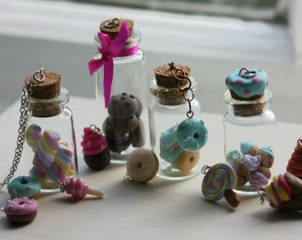 Miniature Glass Bottle Charms