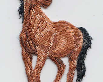 Horse Standing Facing Left  Iron On Applique