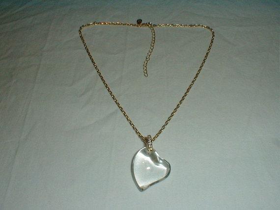 vtg nolan miller necklace floatingheart pendant