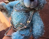 Honour - a beautiful upcycled synthetic fur artist bear 23cm seated