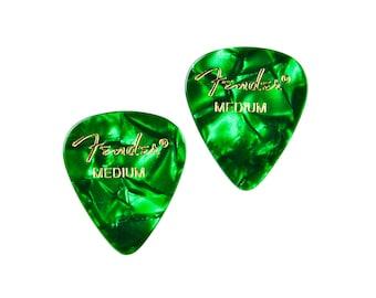 Green Guitar Pick Cufflinks - Men's Accessories - Handmade - Gift Box Included
