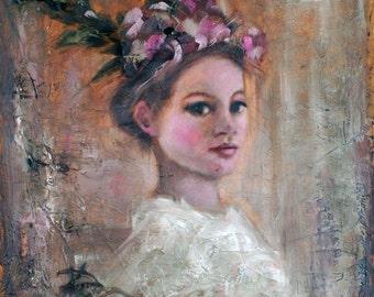 Becoming Original Oil Painting by Kelly Berkey