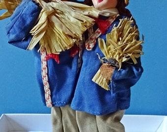 Vintage Dolls, Unusual Harvest Dolls, Pair of Vintage Dolls, 1950's Vintage, Oriental Dolls