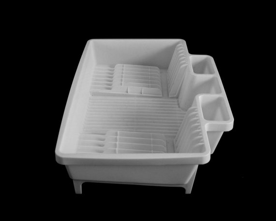 Elegant Rubbermaid Dish Drying Rack Side Drainer 1990s Kitchen #6054 White Or Beige  (used)