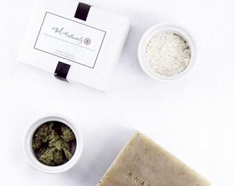 Yomogi(Japanese Mugwort) & Australian Pure White Clay  Facial Soap -deep cleanse, detox