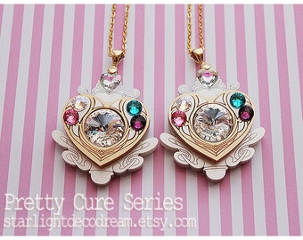 SALE Jeweled Cure Module Necklace Suite Pretty Cure Inspired for Magical Girl Shoujo & Mahou Kei Fashion
