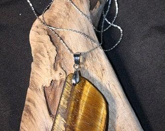 Free-form Golden Tiger Eye Necklace - Item 1408