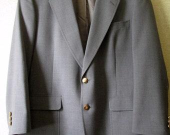 Grey Sport Coat Vintage gray blazer Jack Nicklaus sport jacket wool blend vintage 90s men 42 union made USA