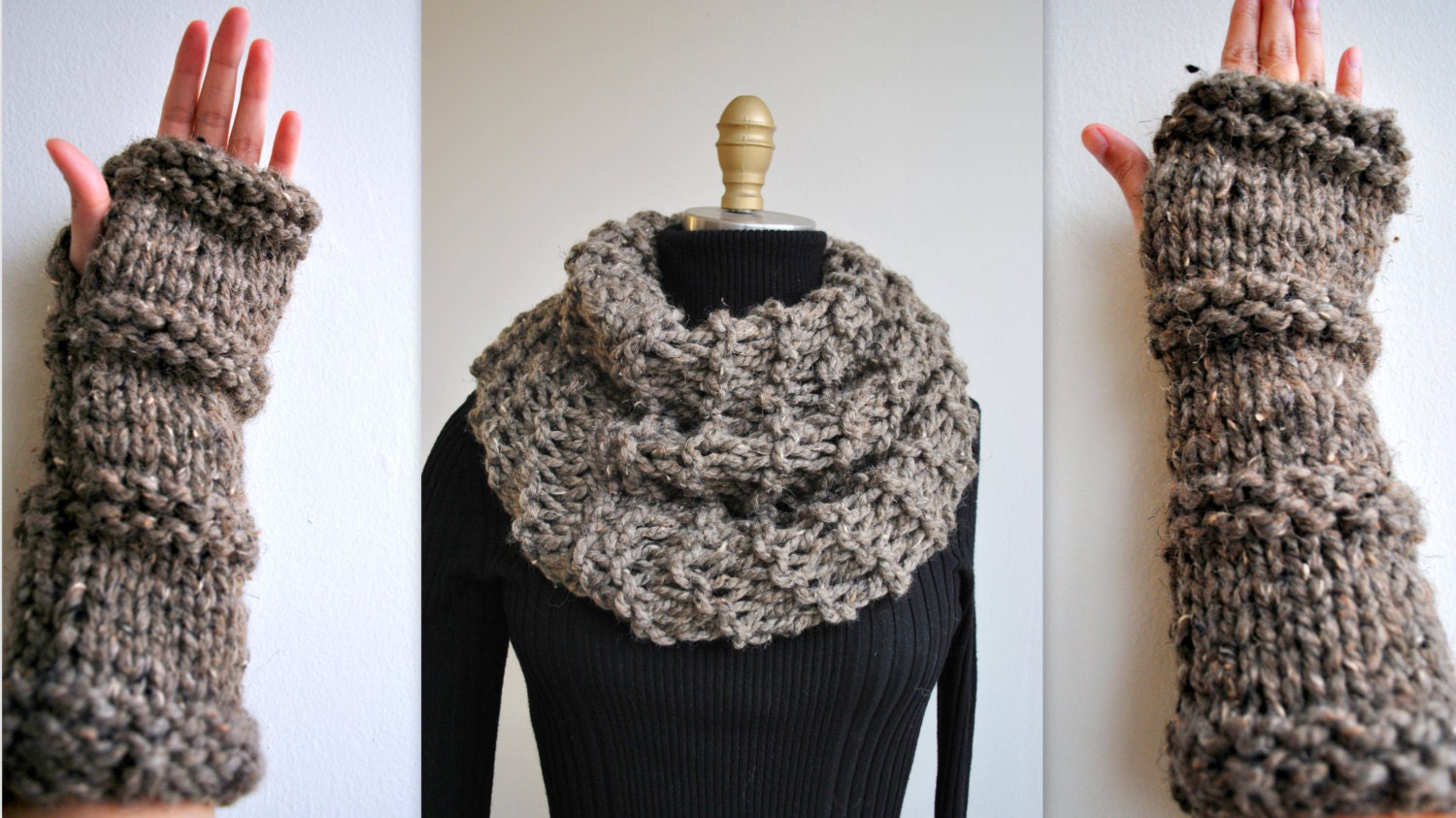 Knitting Pattern Outlander Cowl : Knitting PATTERN: Outlander Inspired Claires Cowl/Gloves
