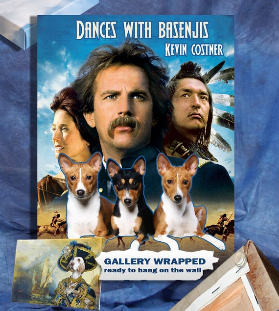 Basenji Fine Art Poster Canvas Print -  Dances with Wolves Movie Poster by Nobility Dogs
