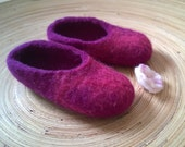 Purple sky – purple and pink felted slippers for ladies