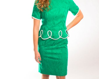 Wiggle dress in emerald green size XS to small
