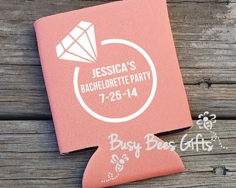 Bachelorette Party ** Personalized Can Coolers ** FREE SHIPPING
