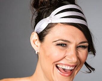 Bridal Ribbon Headband - Simple Bridal Headband - Bridal Ribbon Hair Accessories - Wedding Ribbon Headband -  Simple Wedding Headband -