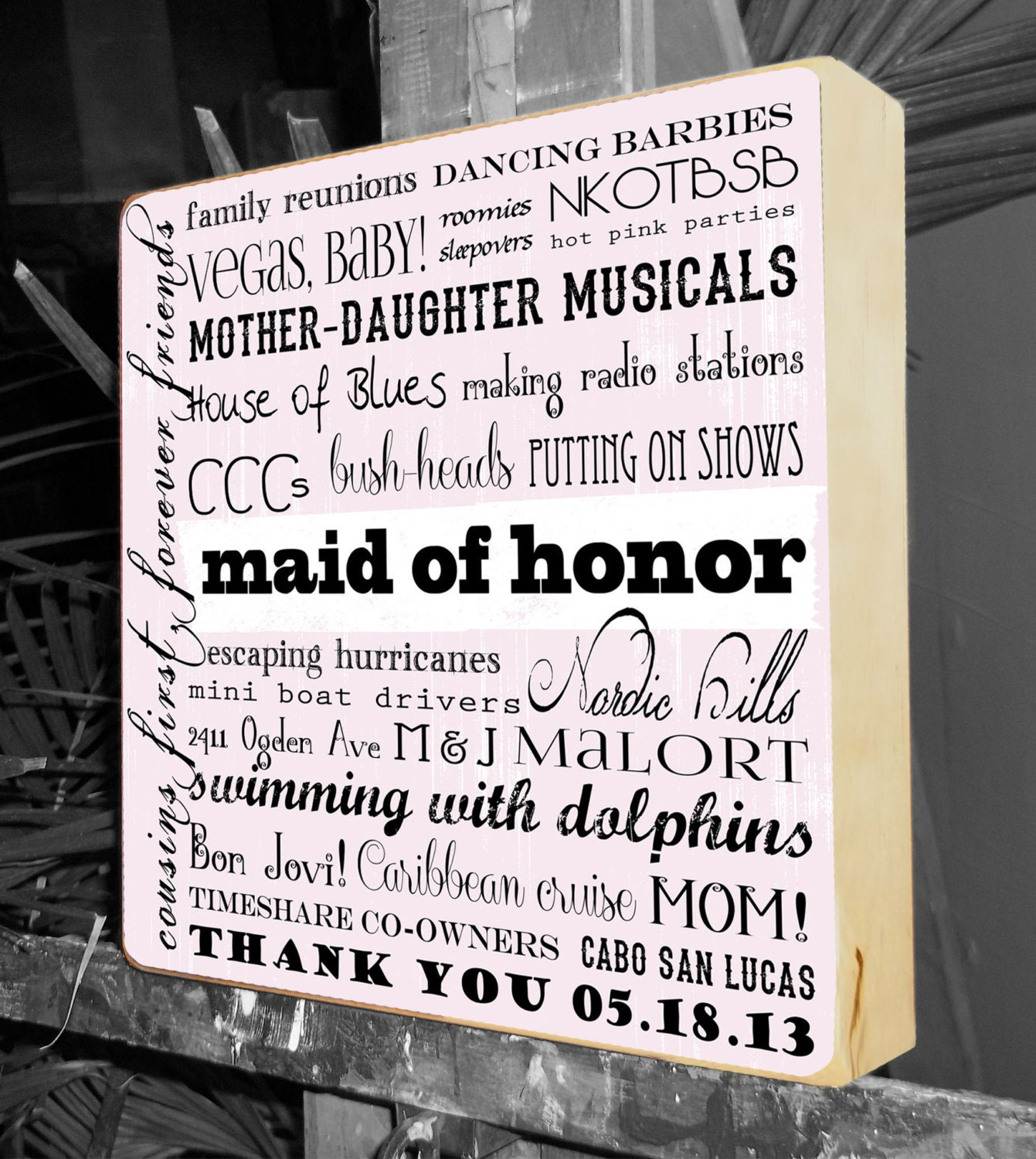 Maid Of Honor Thank You Gift Best Friend Sisters